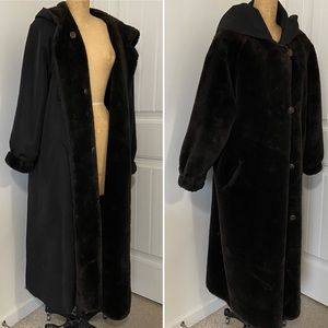 Vintage Reversible Maxi Coat by Marvin Richards